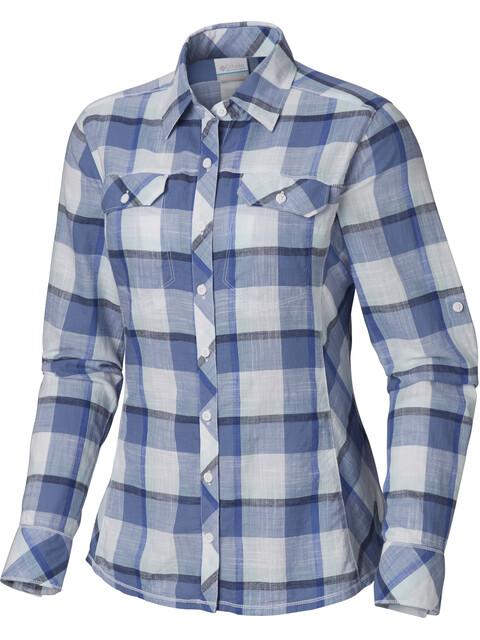 Columbia Camp Henry - T-shirt manches longues Femme - bleu/blanc